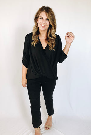 Elise Draped Blouse
