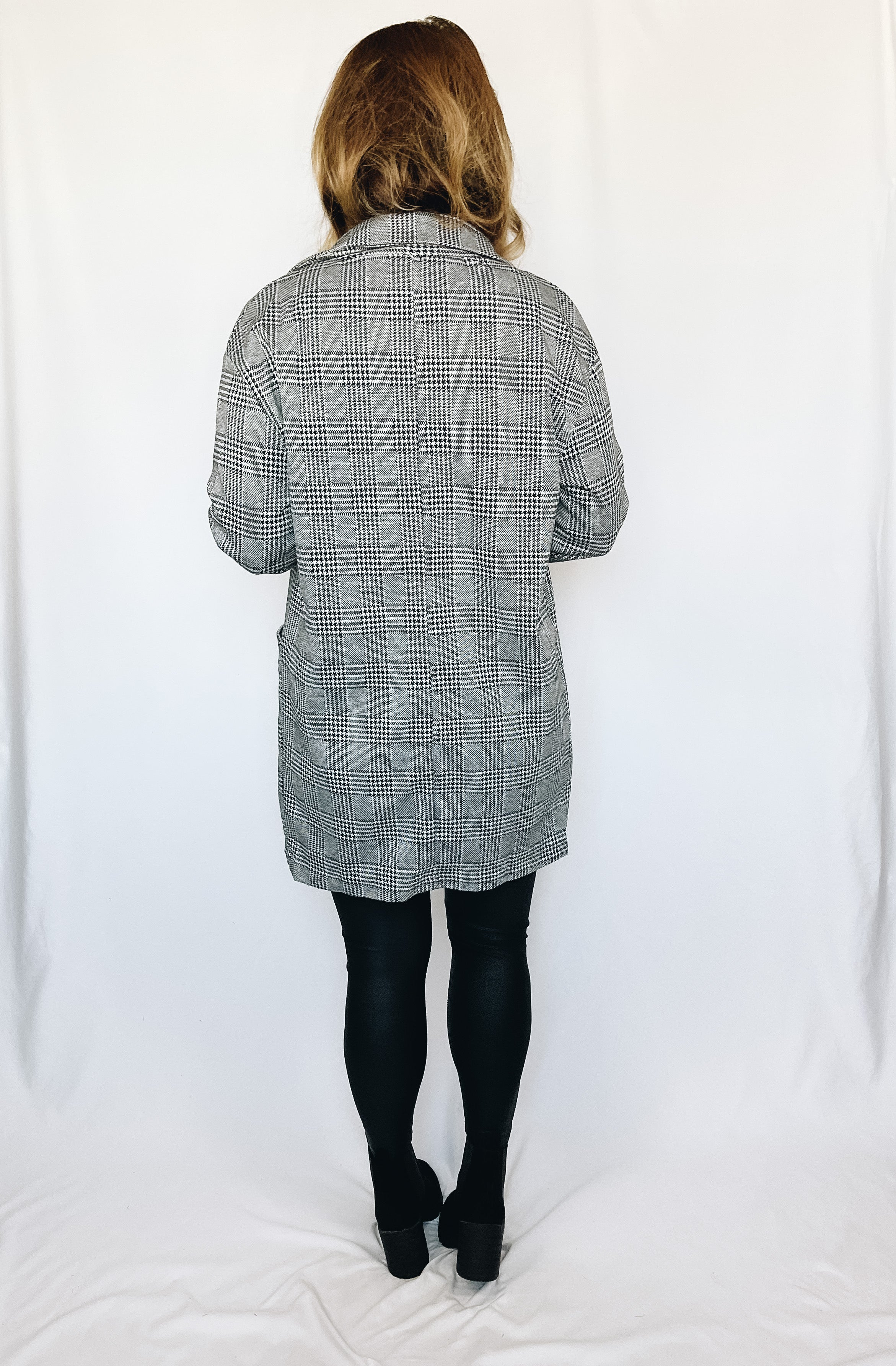 Tinsley Plaid Jacket- Gray