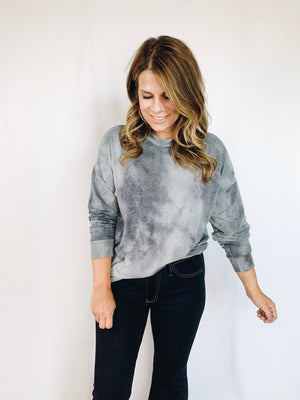 Collins Tie Dye Top- Blue