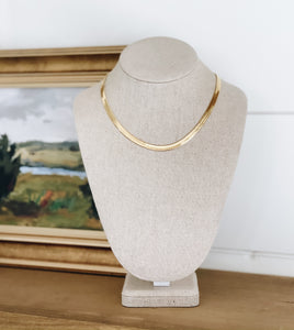 Herringbone Gold Chain Necklace