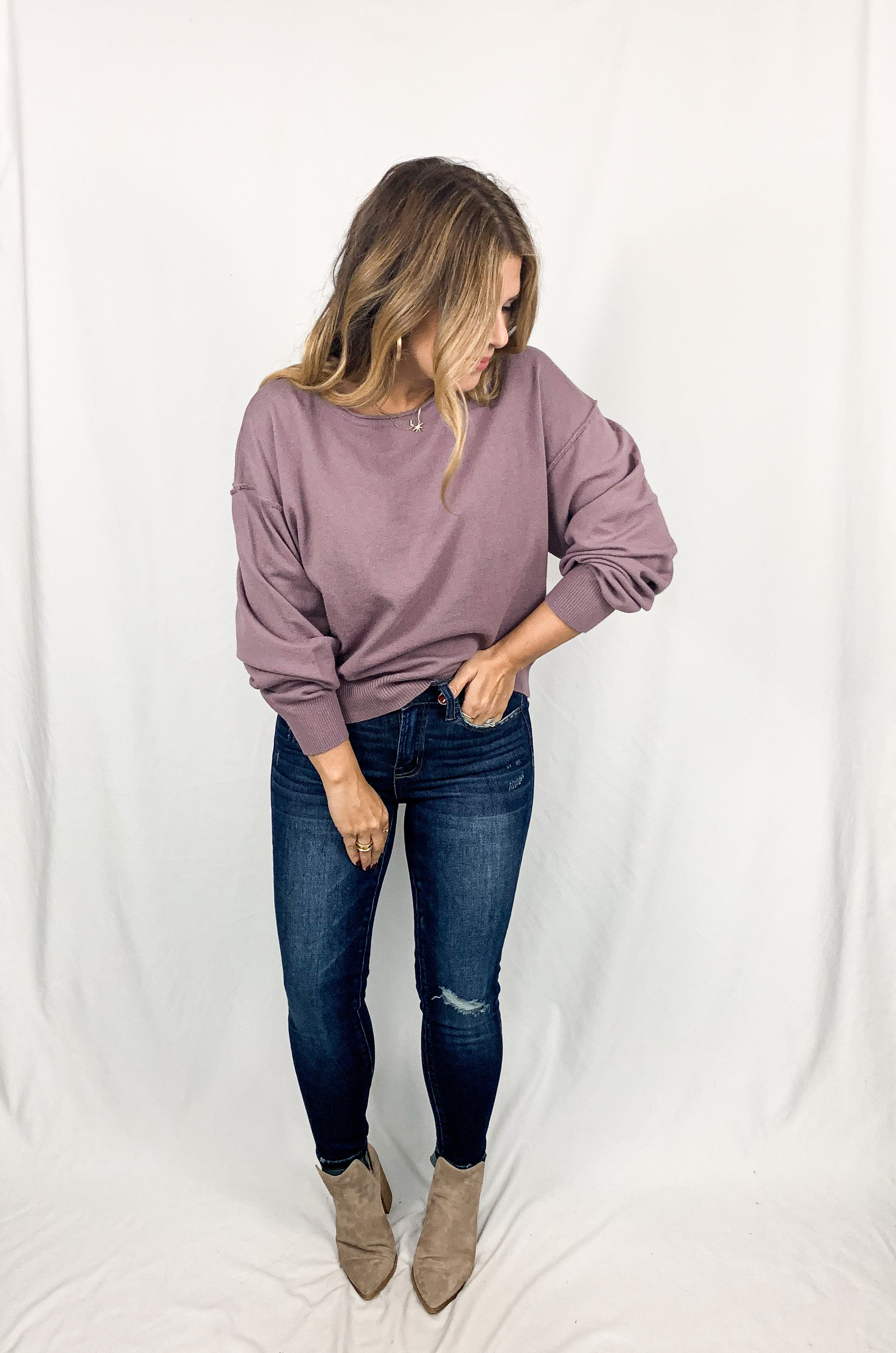 Whitney Sweater- Purple