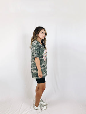 Babes Support Babes Tee - Green Camo