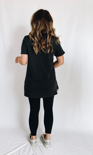 Babes Support Babes Tee - Distressed Black