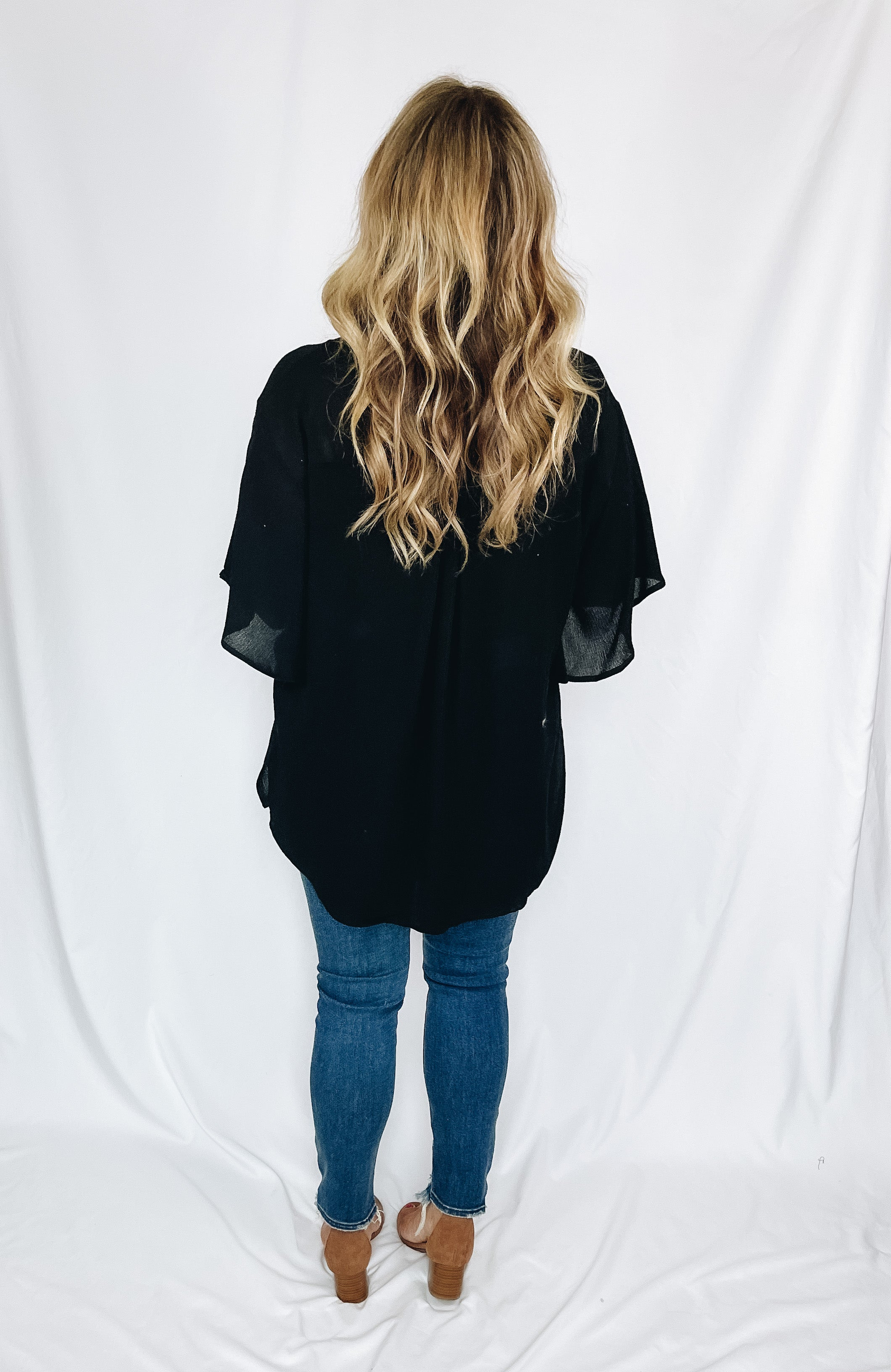 Betsy Pocket Blouse- Black