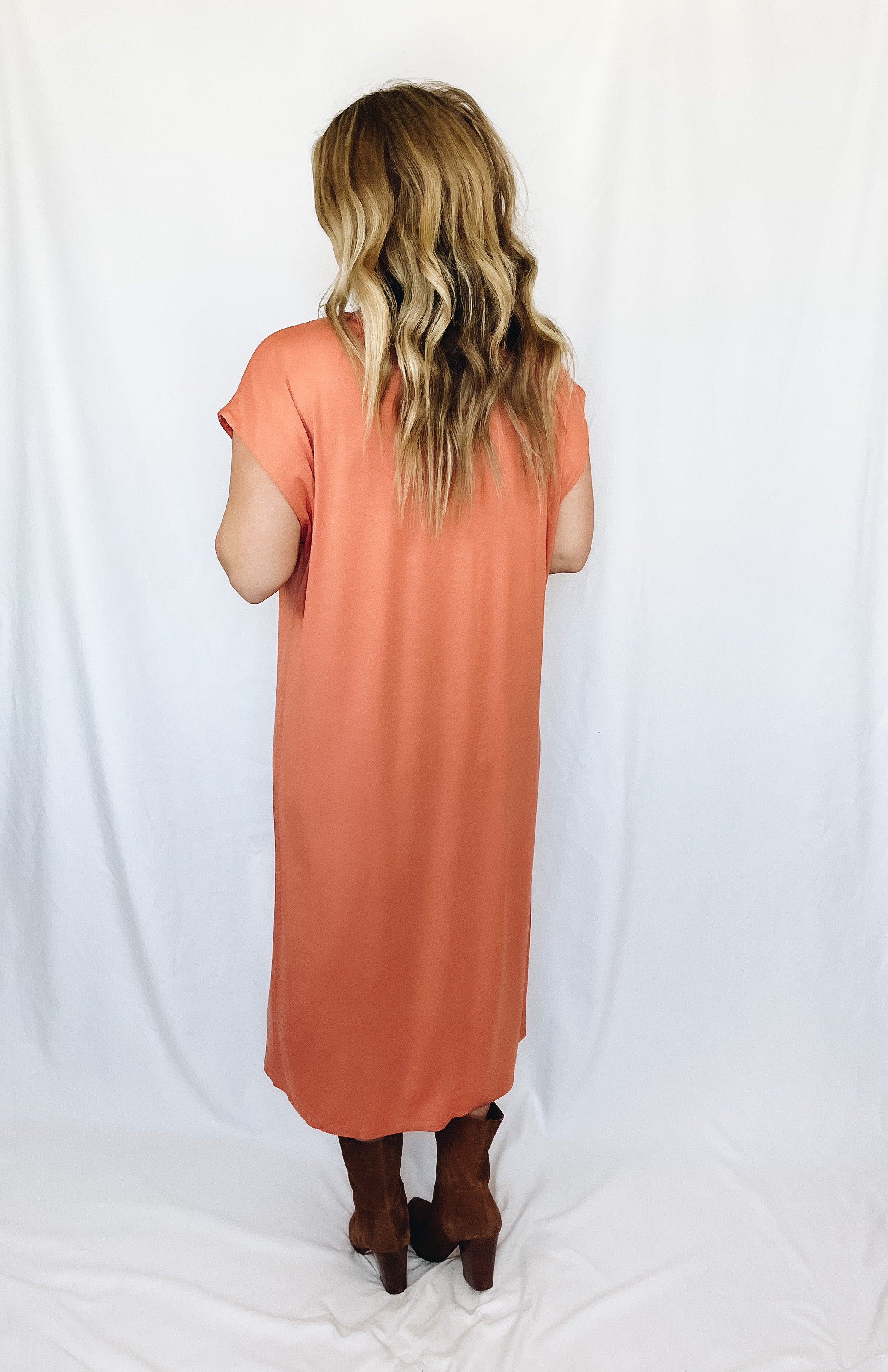 Keely Midi Dress- Copper
