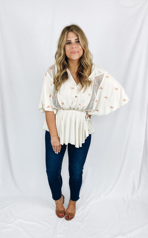Claire Embroidered Top