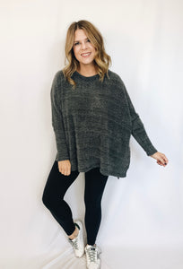 Rowan Sweater- Charcoal