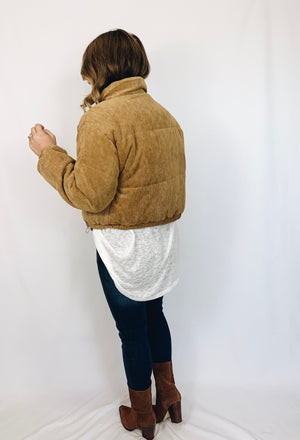 Spencer Corduroy Puffer Coat
