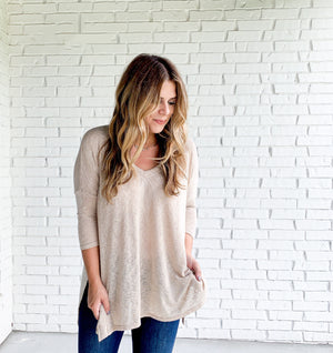 Monica Top- Taupe