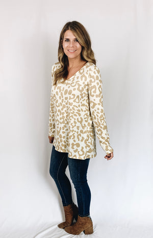 Mary Kate Leopard Top