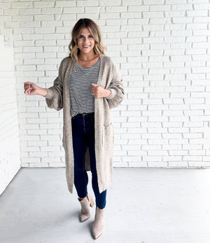 Georgia Cardigan- Oatmeal