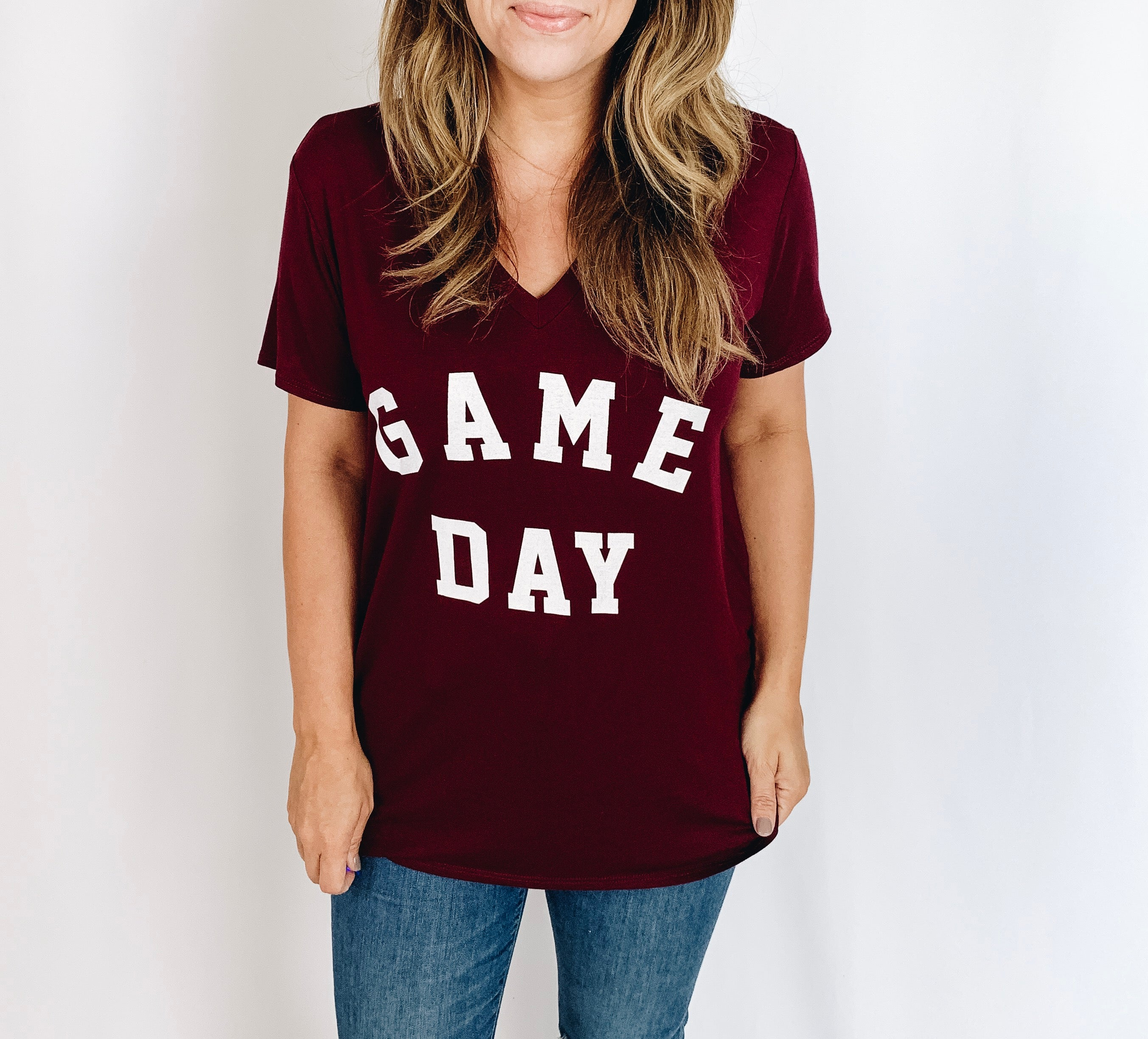Game Day Tee- Maroon