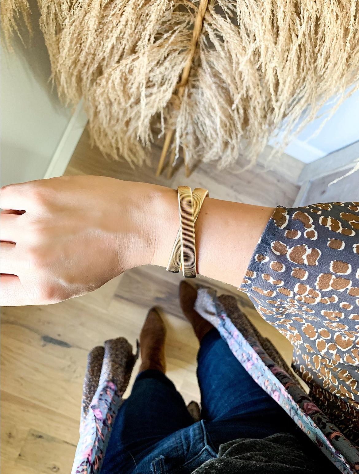 Bella Wrap Gold Bracelet