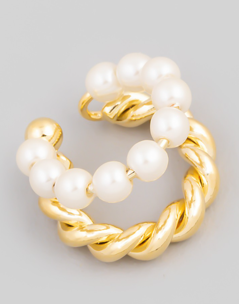 Pearl Ear Cuff- Gold
