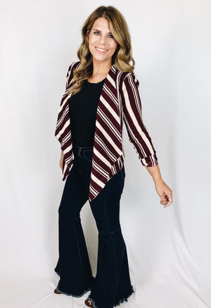 Addison Striped Blazer - Left