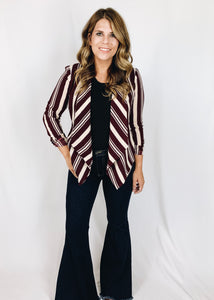 Addison Striped Blazer - Front