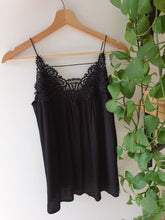 Load image into Gallery viewer, Black Lace Camisole - See You Soon