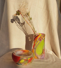 Load image into Gallery viewer, Multicolor Crackle Glass Vase