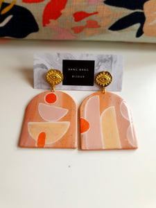 Peachy Laquered Earrings