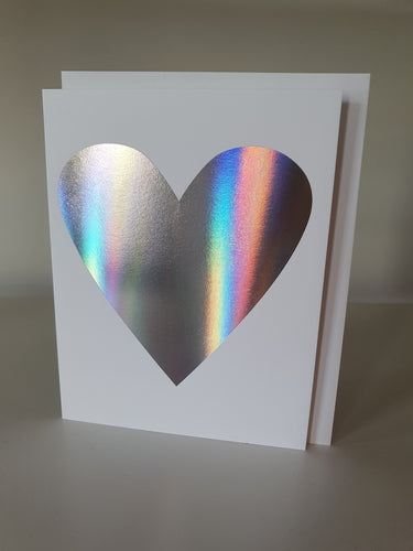 Hologram Heart note card