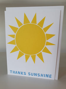 Thanks Sunshine note card
