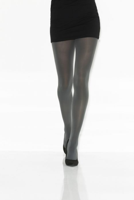 Charcoal Opaque Microfiber Tights