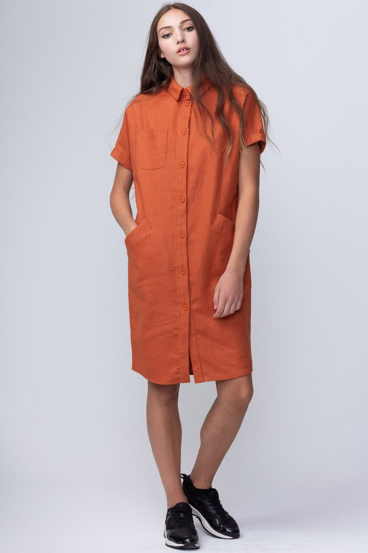 Linwood Dress - Rust
