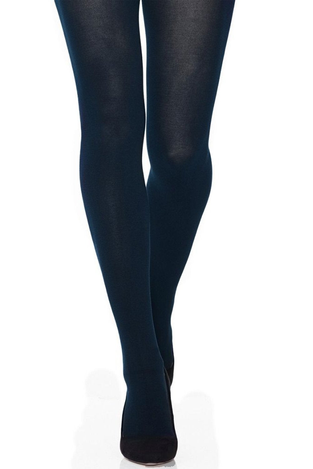 Navy Opaque Microfiber Tights