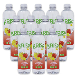 KRISPwtr FLAVAS Strawberry/Pineapple Organic Flavored Spring Water - 12 pack