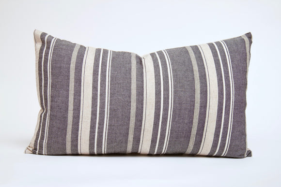 Gray and Cream Striped Lumbar Cover