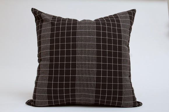 Black Grid Pillow Cover
