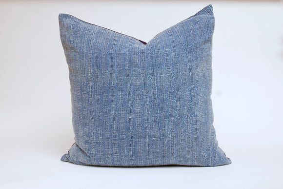Light Blue Textured Pillow Cover