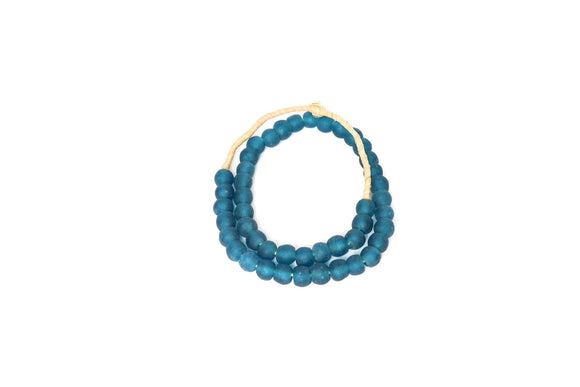 Deep Ocean Blue Recycled Glass beads