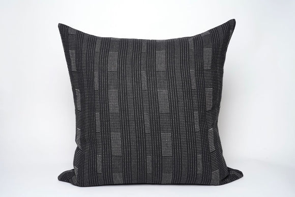 Black Stripe Stitched Pillow Cover