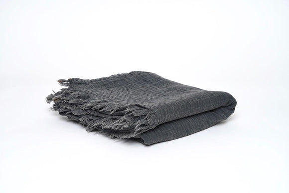 Gray Stone Washed throw