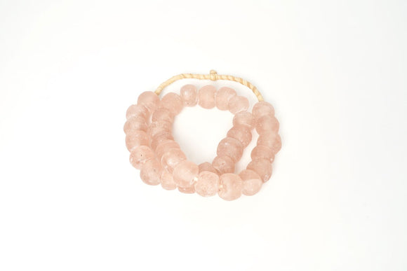 Blush Recycled Glass beads- Medium Sized