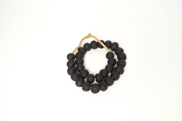 Jumbo Espresso Recycled Glass Beads