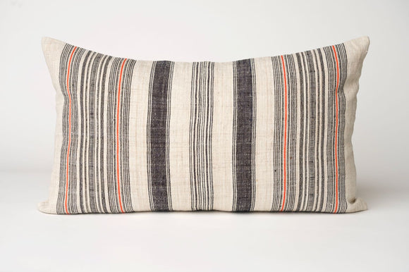 Striped Hemp Pillow Cover