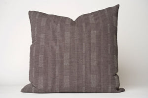 Gray Stitched Pillow Cover