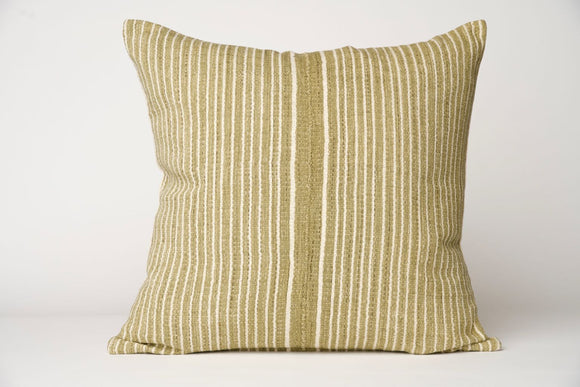 Hmong Olive Striped Pillow Cover