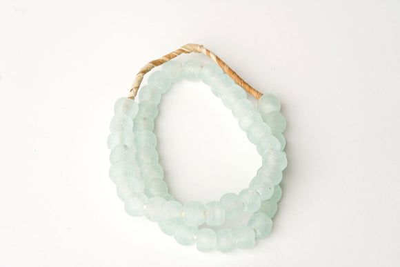 Aqua Mist Recycled Glass Beads
