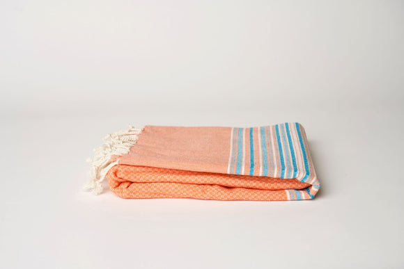 Orange Peshtemal Towel