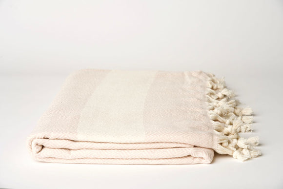 Cream and Blush Throw