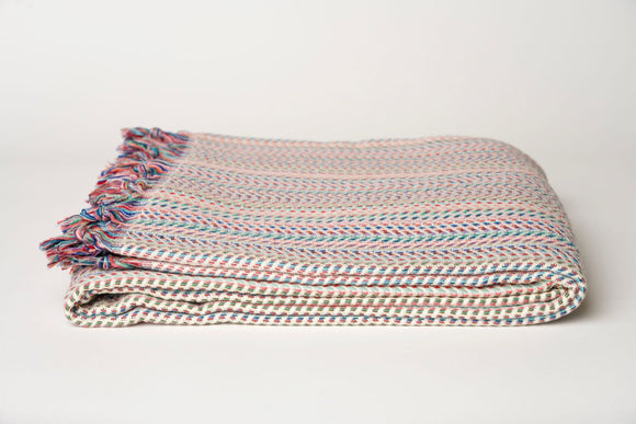 Colorful Herringbone Throw
