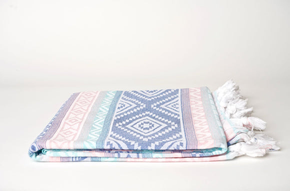 Multicolor Aztec Throw Peshtemal