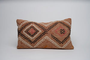 Geometric Lumbar Turkish Kilim Pillow Cover