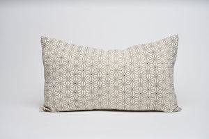 Cream Block Print Geometric Lumbar