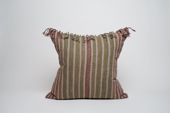 Fall Inspired Hmong Pillow Cover with Fringe