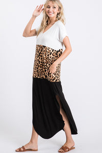 Leopard Blocked Maxi
