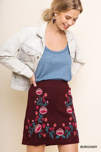 That Girl Embroidered Skirt